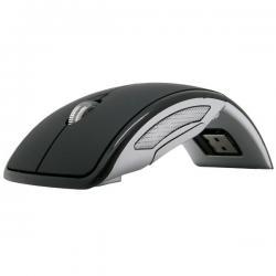 Skladacia bezdrôtová myš - Čierna