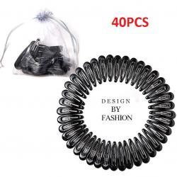 Sponky do vlasov 40ks-Čierna