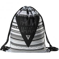 Vak Hakuna Matata-Čierna/Biela