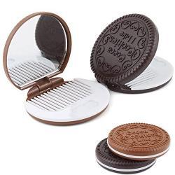 Zrkadielko Choco Cookie 2v1 - Čierna