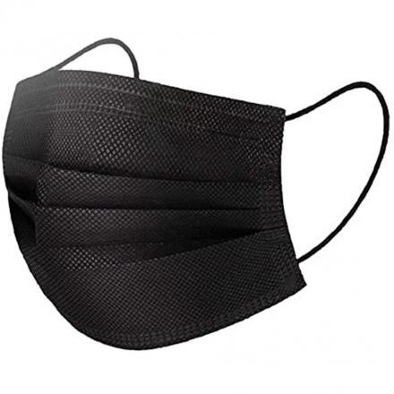 1x Hygienické jednorázové Rúško-Čierna