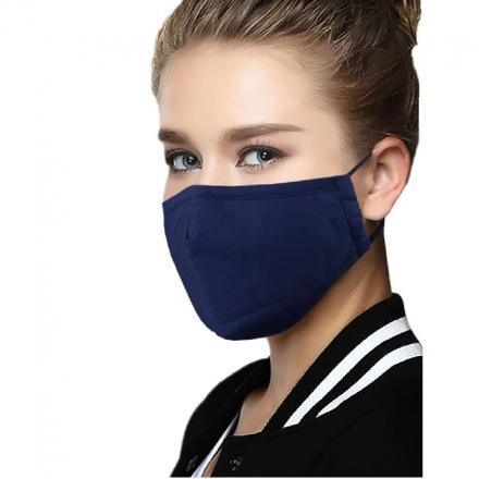 Bavlnené Rúško s výmenným filtrom-Modrá