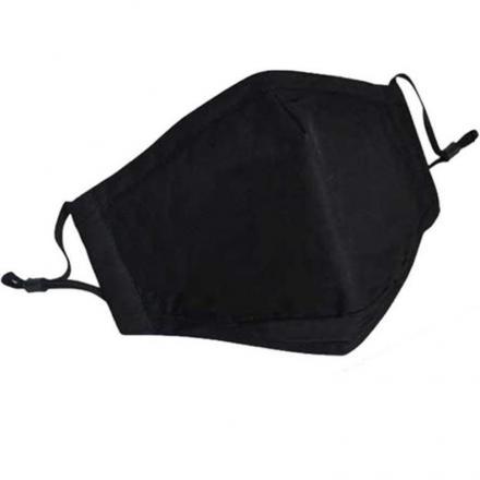 Bavlnené Rúško s výmenným filtrom-Čierna