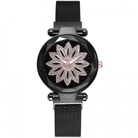 Magnetické Hodinky Ornamento-Čierna