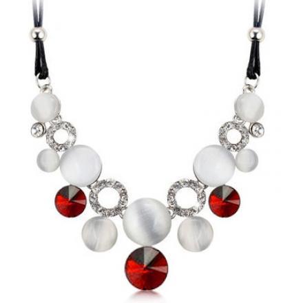 Náhrdelník Opal Crystal-Červená