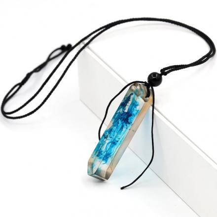 Náhrdelník Pour Resin-Modrá