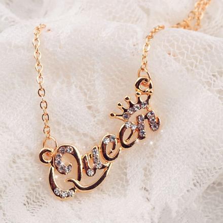 Náhrdelník Queen-Zlatá