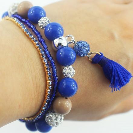 Náramok Velvet-Modrá