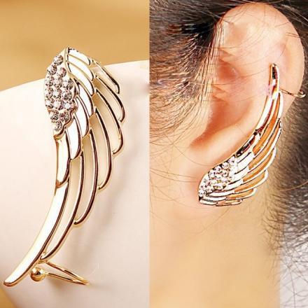 Náušnica Anjelské krídlo (ľavá) - Zlatá