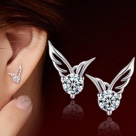 Náušnice Anjelské krídla-Strieborná