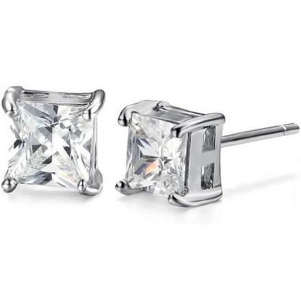 Náušnice Cubic Crown - Strieborná dfec2b8960d