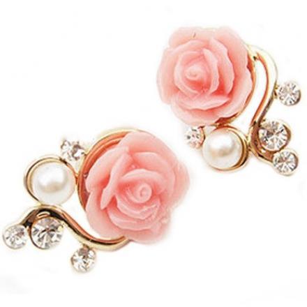 Náušnice Ružička-Ružová