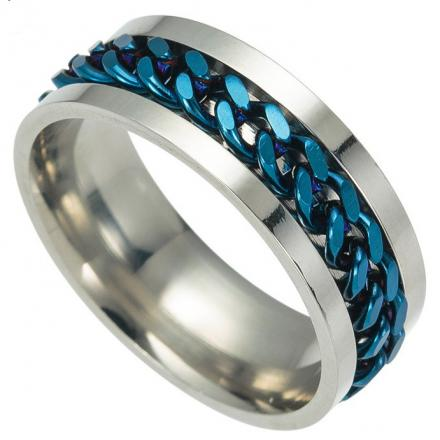 Prsteň Chuan-Str./Modrá/65mm