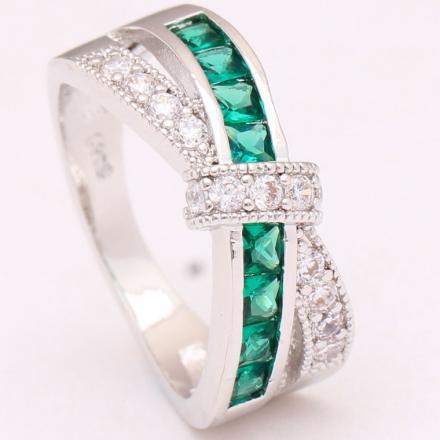 Prsteň Divine-Str./Zelená/49,3mm