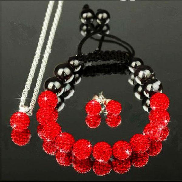 Shamballa Set - Červená KP94