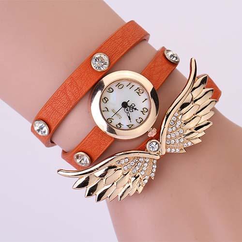 Hodinky Angel Wings - Oranžová