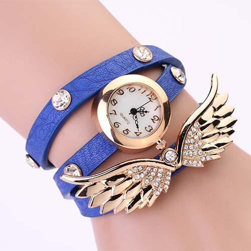 Hodinky Angel Wings - Modrá