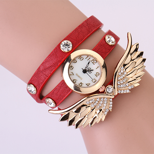 Hodinky Angel Wings - Červená