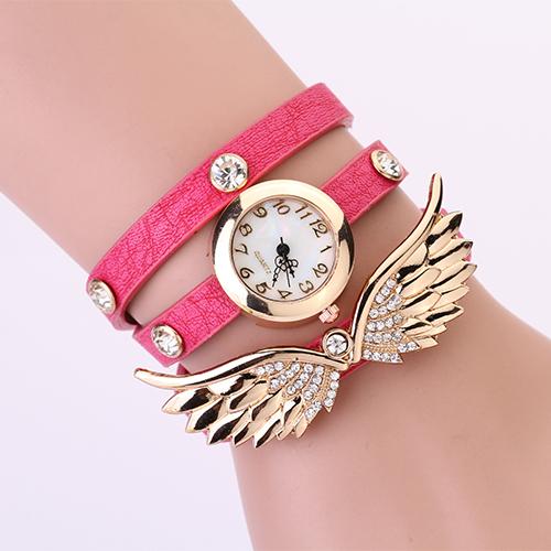 Hodinky Angel Wings - Růžová