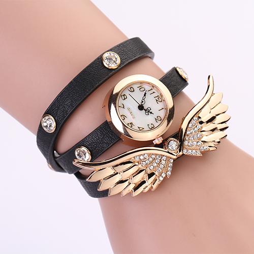 Hodinky Angel Wings - Černá
