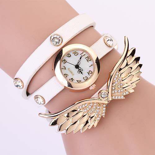 Hodinky Angel Wings - Bílá