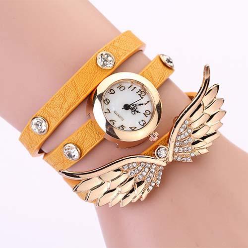 Hodinky Angel Wings - Žlutá