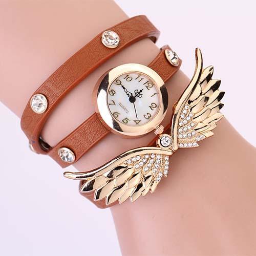 Hodinky Angel Wings - Hnědá