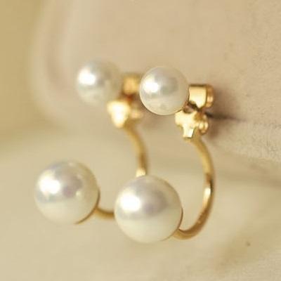 Náušnice Exquisite Pearl-Zlatá KP545