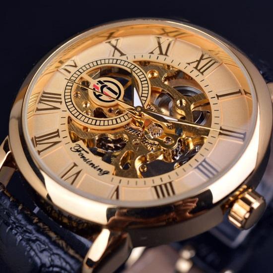 Hodinky Gold Skeleton-Zlatá KP2613
