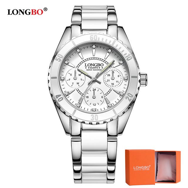 Hodinky LONGBO-Stříbrná Bílá f84110f119e