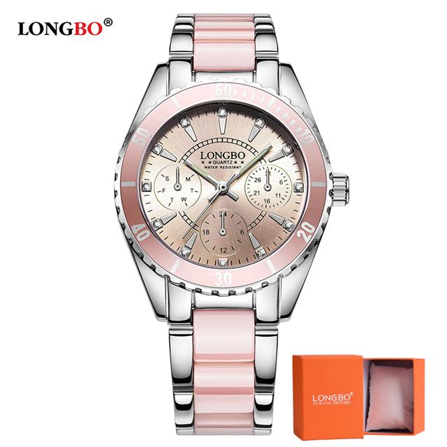 c998fb80935 Hodinky LONGBO-Stříbrná Růžová