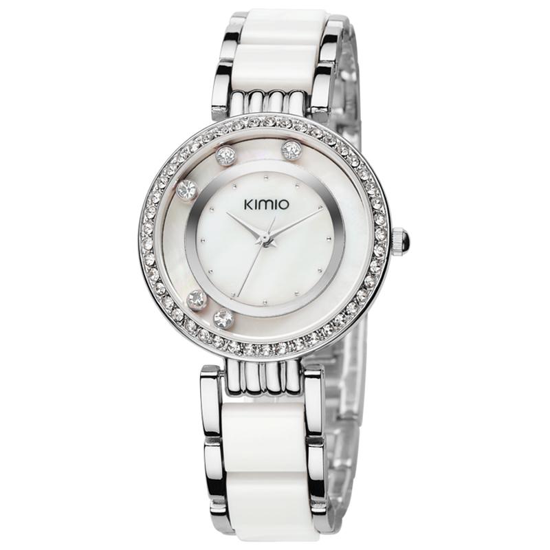 Hodinky KIMIO Prestige - Bílá/ Stříbrná