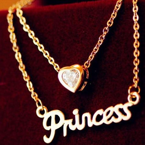 Colier Love Princess - Auriu KP2572