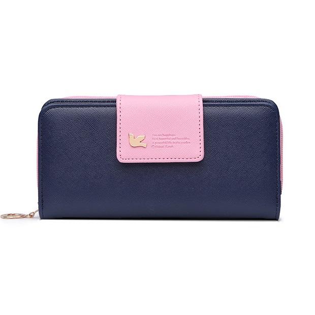 Peňaženka Viola-Modrá/Ružová KP3827
