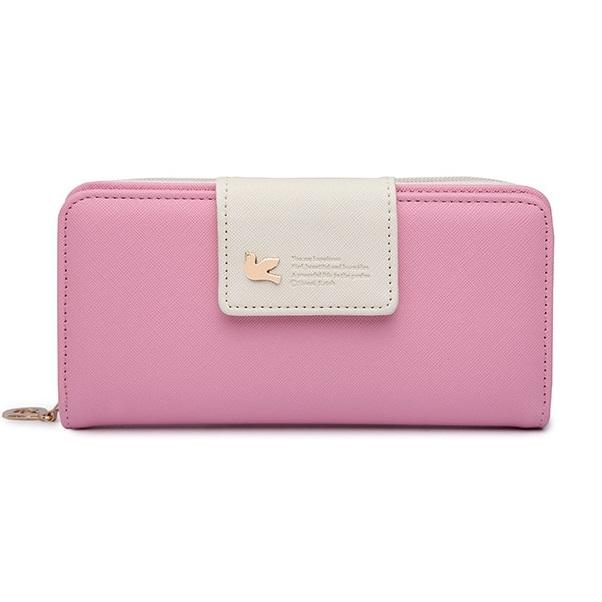 Peňaženka Viola-Ružová/Biela KP3829