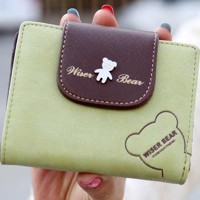 Peněženka Teddy Bear-Zelená KP2888