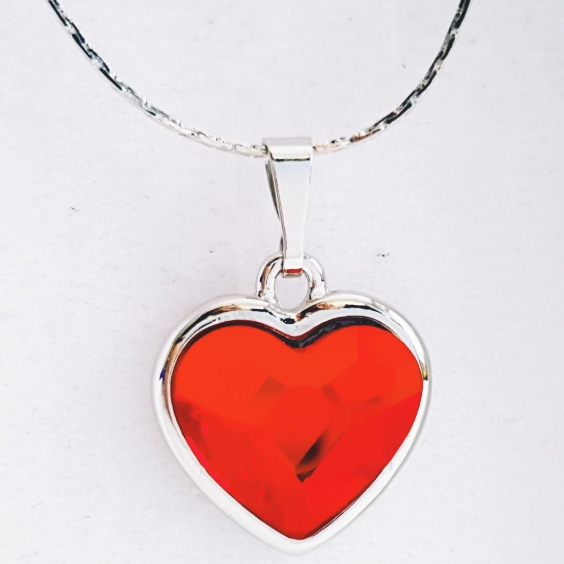 Náhrdelník Red Heart SWAROVSKI-Str./Červená KP8168