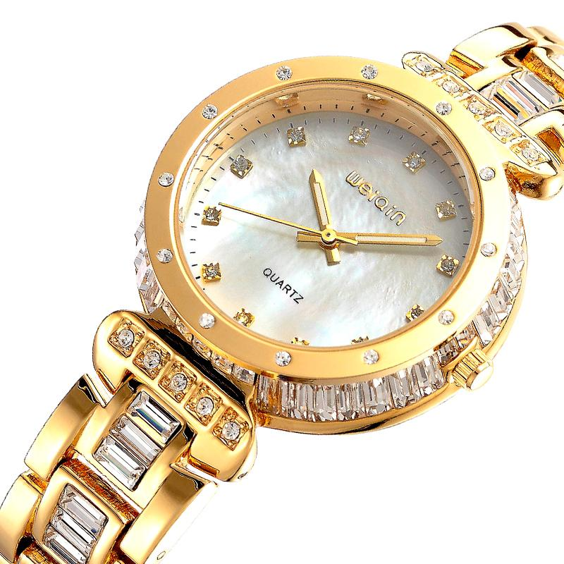 Hodinky Weiqin Crystal - Zlatá KP1352