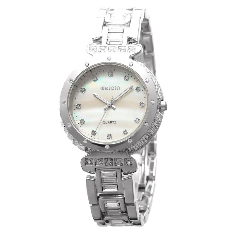 Hodinky Weiqin Crystal - Stříbrná