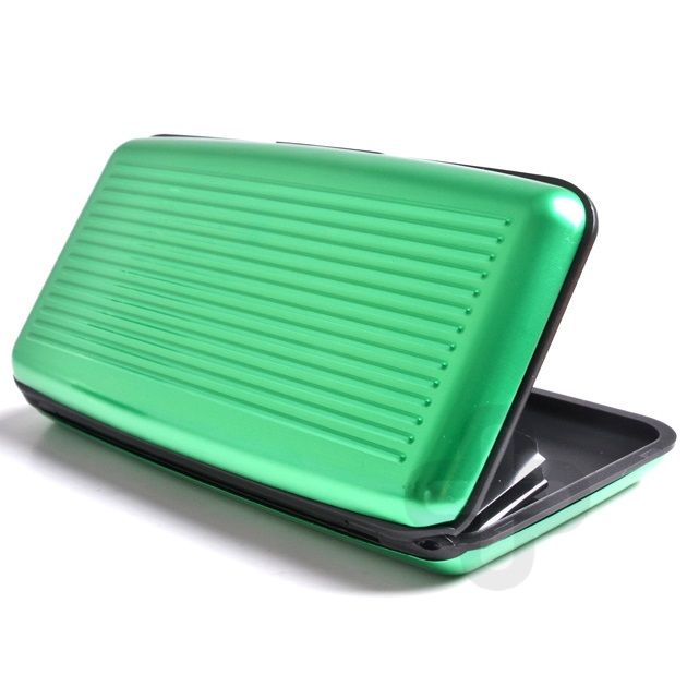 Pouzdro na doklady ALUMA WALLET - Zelená KP816