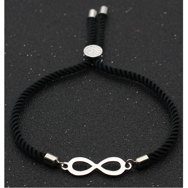 Levně Náramek Black Infinity-Černá KP6624