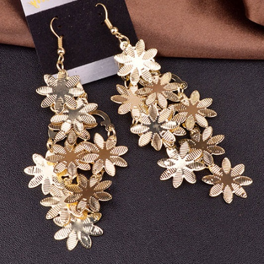 Náušnice Flowers-Zlatá KP4135