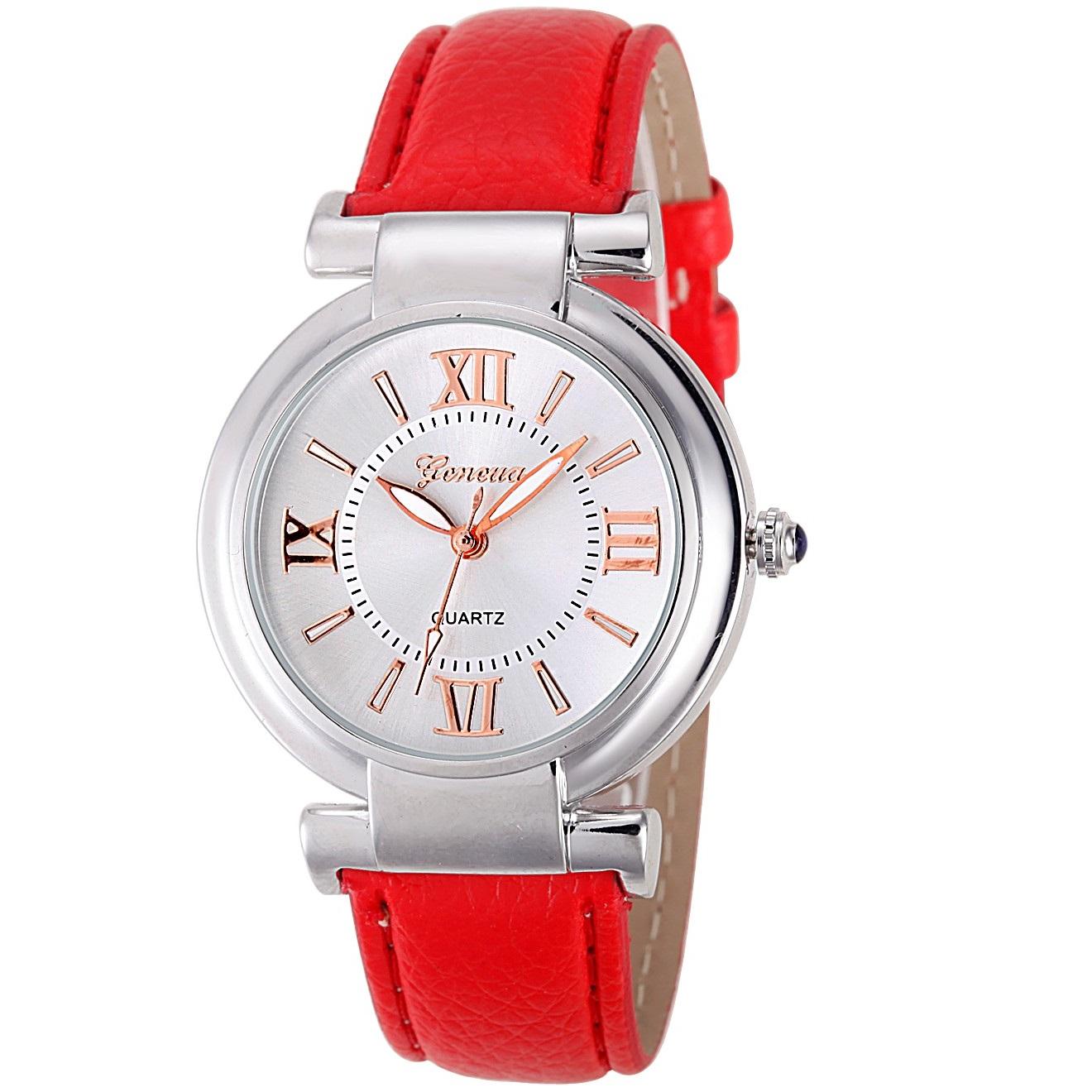 Damske hodinky geneva classic quartz levně  e54a98a364b