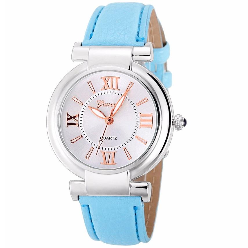 Hodinky Geneva Style - Modrá KP1833