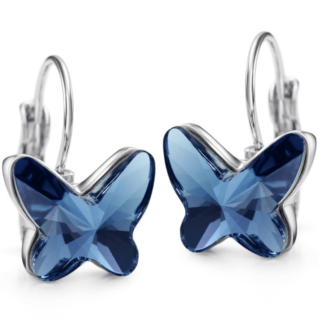Náušnice Glory Butterfly - Modrá KP1923