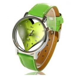 Hodinky WoMaGe HEART - Zelená KP143