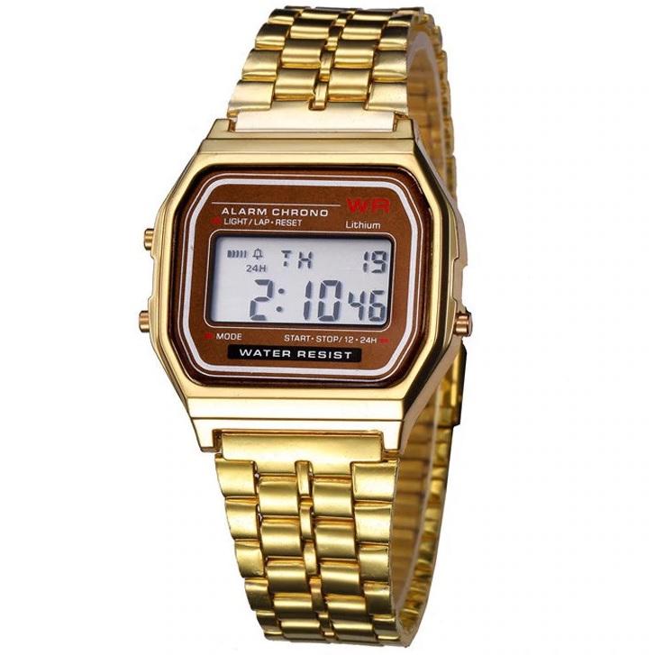 Digitálne Hodinky-Zlatá KP6241