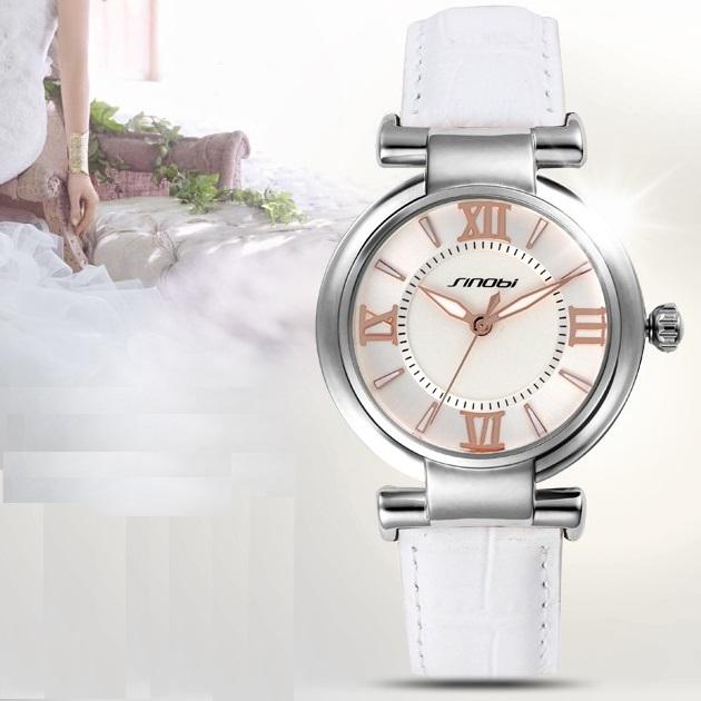 Hodinky SINOBI Square - Stříbrná / Bílá