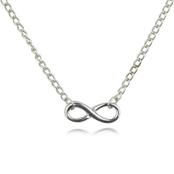 Náhrdelník Infinite Chain - Stříbrná KP1683