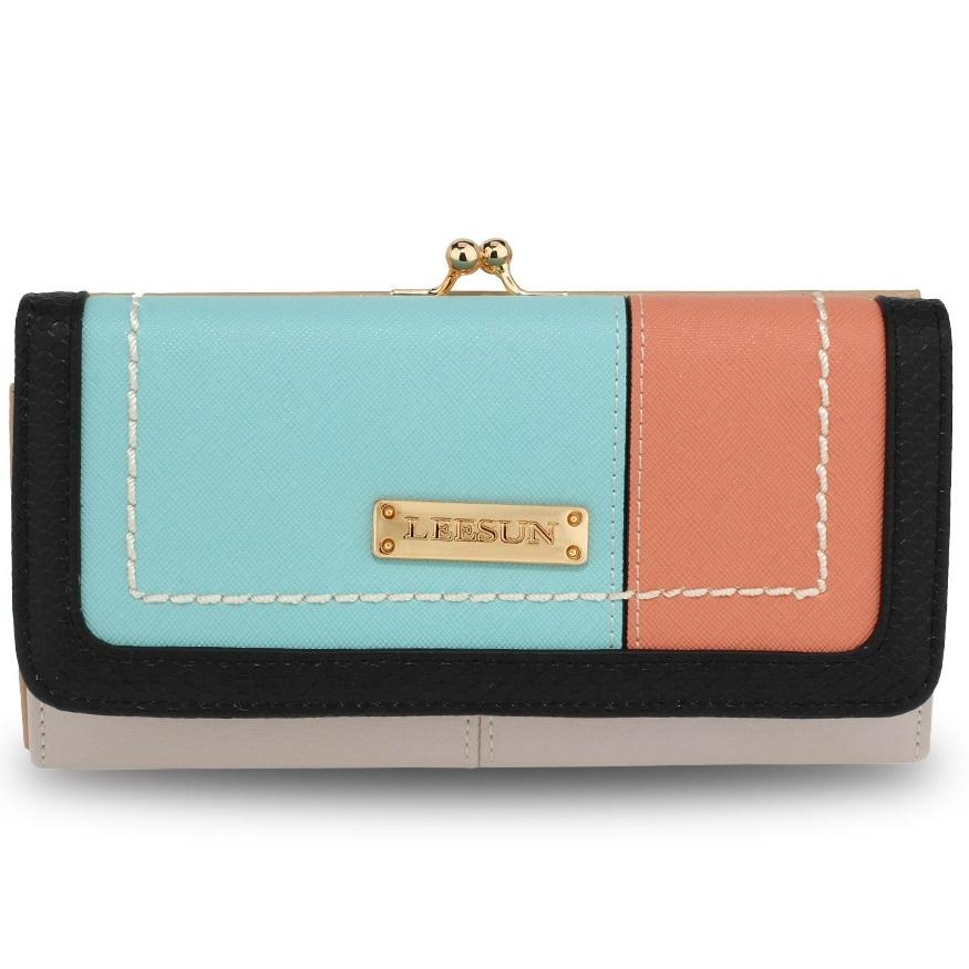 Peňaženka Leesun-Biela/Modrá KP4567